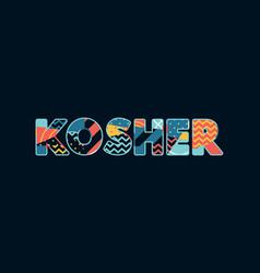 Kosher concept word art vector