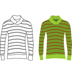 Long sleeve striped sweaters vector