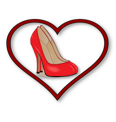 Love shoes vector