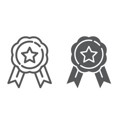 medal line and glyph icon award and achievement vector image