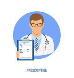 Medical prescription concept vector