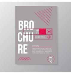 modern brochure minimal cover design vector image