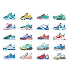 modern sneakers running training footwear vector image
