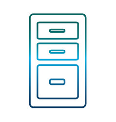 office drawers icon vector image