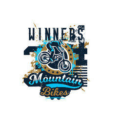 on the theme of mountain bike vector image
