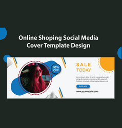 Online fashion shop big sale social media cover vector