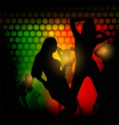 Party silhouette girl vector