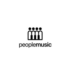 people and music logo concept vector image