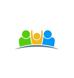 people care family persons design vector image
