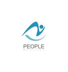 people healthy abstract logo vector image