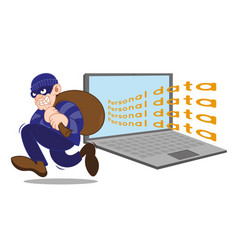 personal dane cyber thief vector image