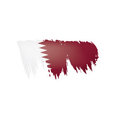 qatar flag on a white vector image