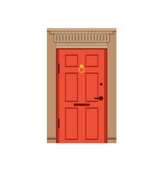red front door to house closed elegant door vector image vector image