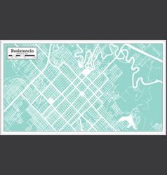 Resistencia argentina city map in retro style vector