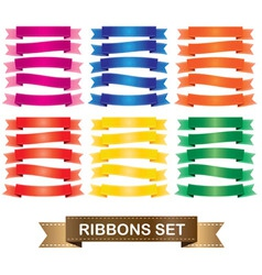 - ribbons set vector image