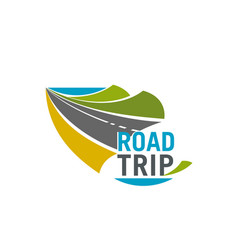 road trip and car journey icon for travel design vector image
