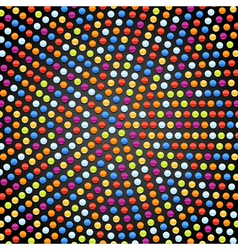 rounded pixel background vector image