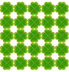 Seamless saint patricks day clover background vector