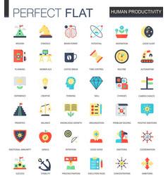 set flat human productivity time vector image