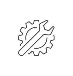 settings line icon or mechanical concept vector image