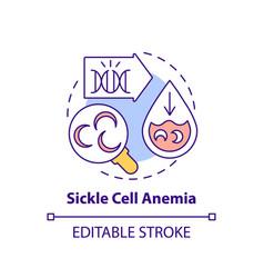 Sickle cell anemia concept icon vector
