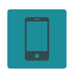 Smartphone flat soft blue colors rounded button vector image