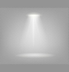 Spotlight beam isolated on transparent background vector