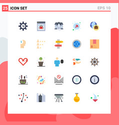 stock icon pack 25 line signs and symbols vector image