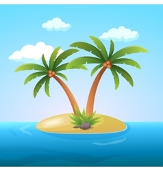 Summer Vacation Holiday Tropical Ocean Island With vector image