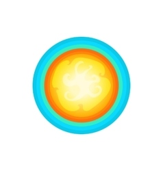 Sun in the sky icon cartoon style vector image