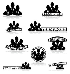 Teamwork vector image