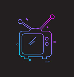 television icon design vector image