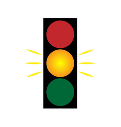 traffic light yellow 203 vector image