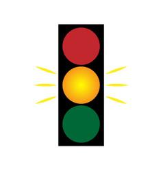Traffic light yellow 203 vector
