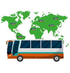 travel and tourism cartoon vector image