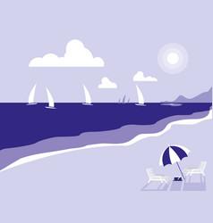tropical beach seascape scene vector image