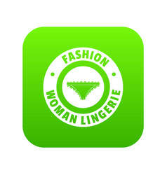 underpant woman icon green vector image