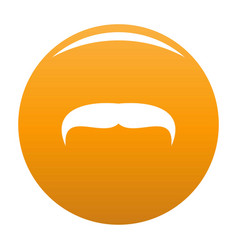 Villainous mustache icon orange vector