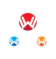 w letter logo vector image