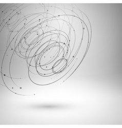 Wireframe mesh abstract background vector image