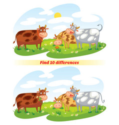 a herd of cows grazing in the meadow vector image vector image