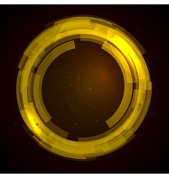 Abstract technology circles background vector image vector image