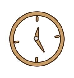 cartoon clock time business money design vector image