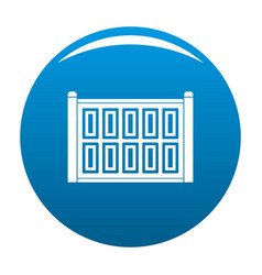 concrete fence icon blue vector image