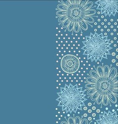 Cute flower background vector image vector image