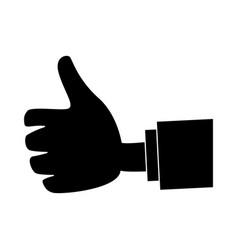 hand cartoon isolated vector image