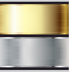 metal background texture steel and gold set vector image