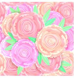 seamless pattern gentle peonies vector image