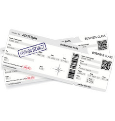 template of boarding pass ticket vector image vector image