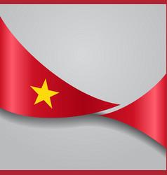 vietnamese wavy flag vector image vector image